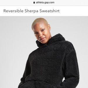 Athleta Reversible Sherpa Hoodie